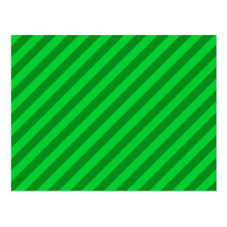 Dark Green Stripe Pattern. Postcard