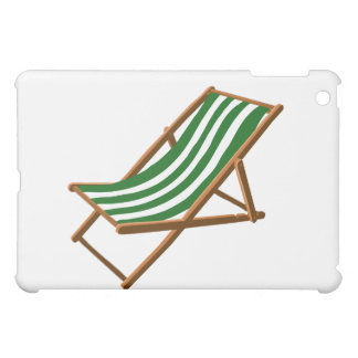 dark green striped wooden beach chair.png iPad mini case