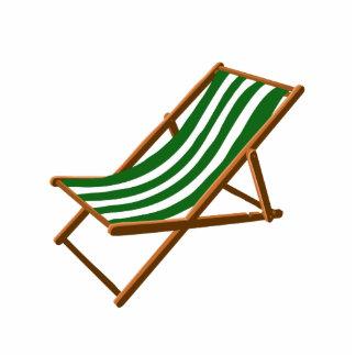 dark green striped wooden beach chair.png standing photo sculpture