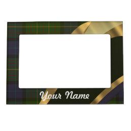 Dark green tartan magnetic picture frame
