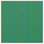 [ Thumbnail: Dark Green & Teal Lines Fabric ]