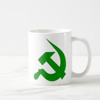Dark Green Thick Neo-Hammer & Sickle Mug