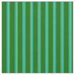 [ Thumbnail: Dark Green & Turquoise Lines/Stripes Pattern Fabric ]
