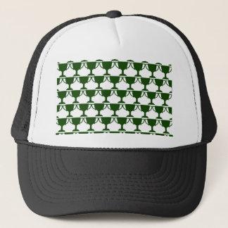 Dark Green Victorian Lace Trucker Hat