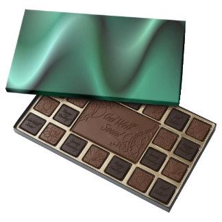 Dark green wave design 45 piece box of chocolates