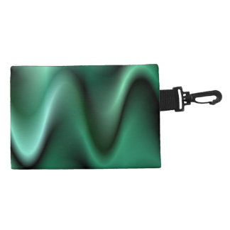 Dark green wave design accessory bag