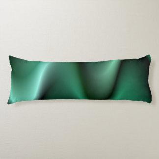 Dark green wave design body pillow