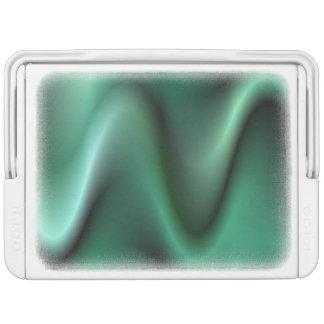Dark green wave design drink cooler