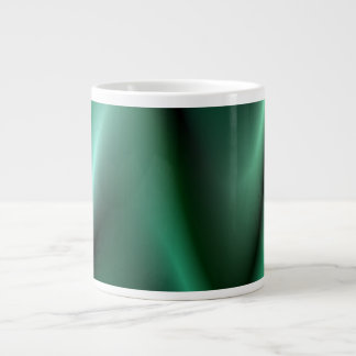 Dark green wave design giant coffee mug