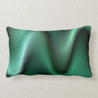 Dark green wave design lumbar pillow