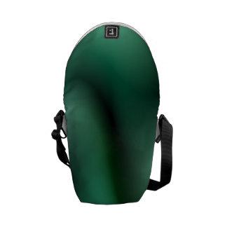Dark green wave design courier bag