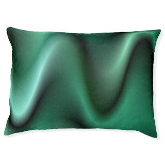 Dark green wave design pet bed