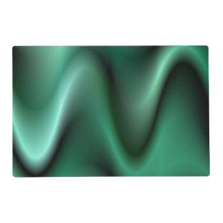 Dark green wave design placemat