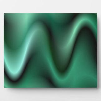 Dark green wave design plaque
