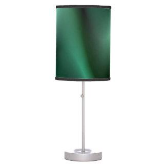 Dark green wave design table lamp