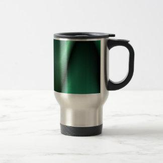 Dark green wave design travel mug