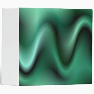 Dark green waves binder