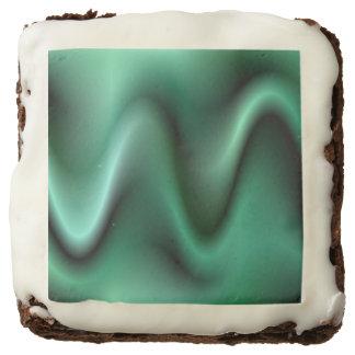 Dark green waves brownie