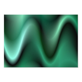 Dark green waves card