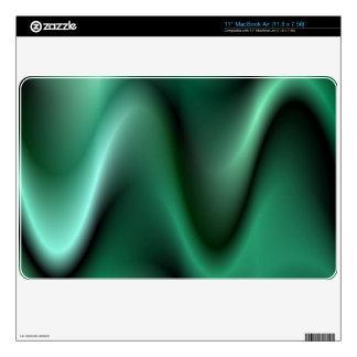 "Dark green waves decal for 11"" MacBook air"