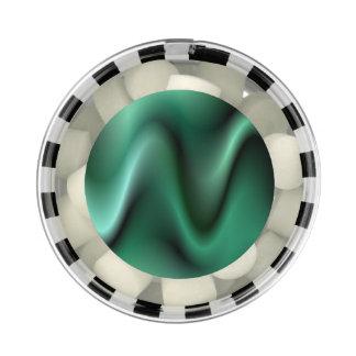 Dark green waves gum