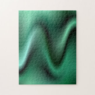 Dark green waves jigsaw puzzle