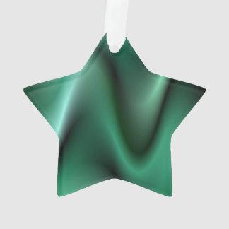 Dark green waves ornament
