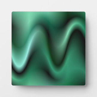 Dark green waves plaque