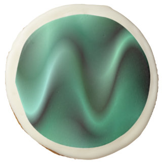 Dark green waves sugar cookie
