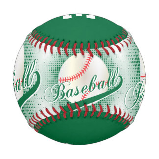 Dark Green | White Retro Baseball Sports