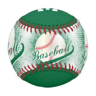 Dark Green   White Retro Baseball Sports Baseballs