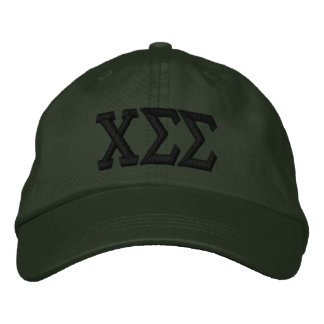 Dark Green with Black Letters Embroidered Baseball Cap