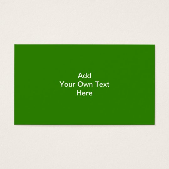 Dark Green with Custom White Text Business Card