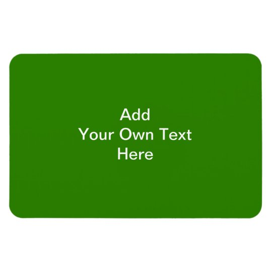 Dark Green with Custom White Text Magnet