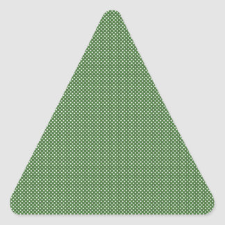 Dark Green With Simple White Dots Triangle Stickers