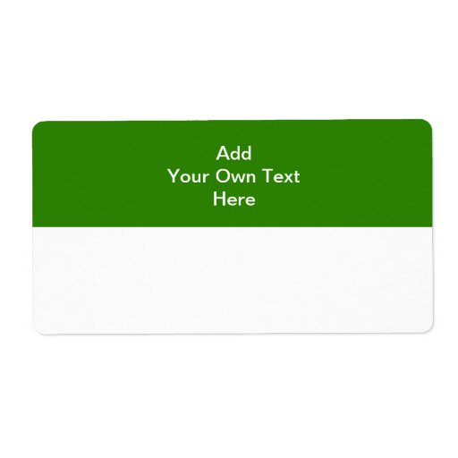 Dark green with white area and text. shipping labels