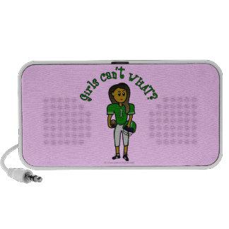 Dark Green Womens Football Mini Speakers