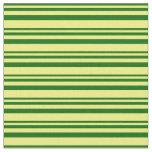 [ Thumbnail: Dark Green & Yellow Colored Pattern Fabric ]