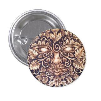 Dark Greenman Button Pin