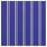 [ Thumbnail: Dark Grey and Blue Colored Striped Pattern Fabric ]