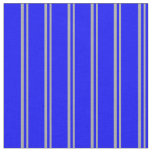 [ Thumbnail: Dark Grey and Blue Stripes Pattern Fabric ]