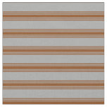 [ Thumbnail: Dark Grey and Brown Colored Striped Pattern Fabric ]