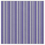 [ Thumbnail: Dark Grey and Dark Slate Blue Lines Pattern Fabric ]
