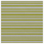 [ Thumbnail: Dark Grey and Green Colored Lines/Stripes Pattern Fabric ]