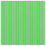 [ Thumbnail: Dark Grey and Lime Striped/Lined Pattern Fabric ]