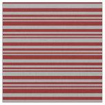 [ Thumbnail: Dark Grey and Maroon Stripes Pattern Fabric ]