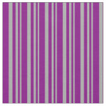 [ Thumbnail: Dark Grey and Purple Lines Pattern Fabric ]