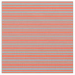 [ Thumbnail: Dark Grey and Red Colored Lines/Stripes Pattern Fabric ]