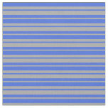 [ Thumbnail: Dark Grey and Royal Blue Colored Stripes Fabric ]