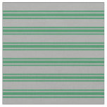 [ Thumbnail: Dark Grey and Sea Green Colored Pattern Fabric ]